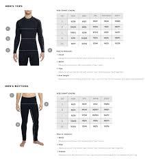 Mens Ski Chart Thermowave Mens Ski Underwear Size Chart Skatepro