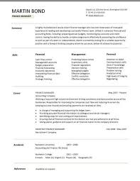 a clear and well laid out finance manager cv template great resume template excellent resume objective