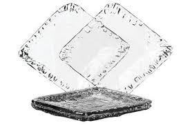 highbury recycled glass square dinner plates photo