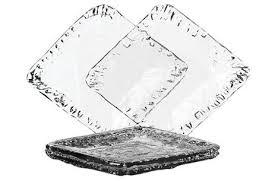 highbury recycled glass square dinner plates photo