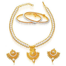 pearl set with gold pendant design ideas