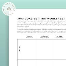 Goal Setting Template 24 Goal Setting Worksheet Day Designer 16