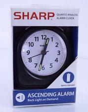 sharp projection alarm clock. sharp battery powered quartz analog ascending alarm clock w back light on a3044v projection i