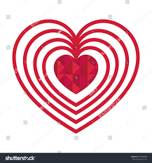 Beautiful Heart Design Decorative Beautiful Heart Design Vector Illustration Stock