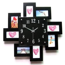 black wood promotional wall clocks with