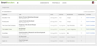 Weekly Update  Agency Management for Companies   SmartRecruiters Candidates submitted by recruiters automatically show as new profiles on the job page and include ratings and reviews by the recruiter on the profile