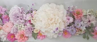 Tissue Paper Flower Wall Art Tissue Blossom Backdrops And Wall Art