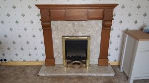 fireplace electric coal effect fire marble hearth surround