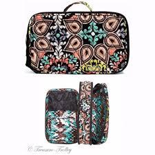 nwt vera bradley blush brush makeup case sierra pattern travel cosmetic bag