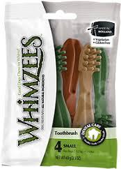 <b>Whimzees</b> Зубная щетка для собак S 9 см 4 шт в блистере ...
