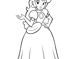 Princess Peach Colouring Pages Coloring To Print Free Mario Kart