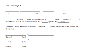 Promissory Note Template For Family Member 35 Promissory Note Templates Doc Pdf Free Premium