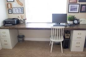 office desk with filing cabinet. DIY File Cabinet Desk + BlendTec Giveaway Office With Filing C