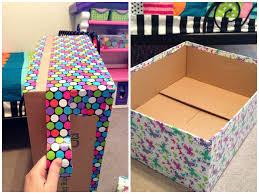 Cardboard Storage Box Decorative Diy Decorative Cardboard Boxes Google Search Crafts Storage Groovy 41