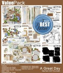 great papers templates scrapsimple embellishment template a great day clipping
