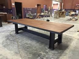 Industrial Look Table Industrial Ibeam Table Bases Make A Big Splash  Richard A .