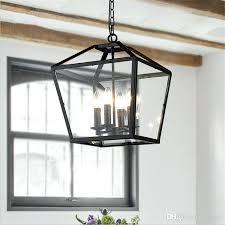 cage chandelier lighting retro pendant light industrial black iron cage chandeliers 4 light foyer hanging lantern