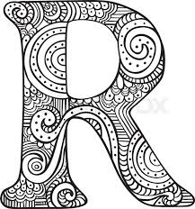 Search through 51976 colorings, dot to dots, tutorials and silhouettes. Stock Vector Of Hand Drawn Capital Letter R In Black Coloring Sheet For Adults Doodle Art Letters Coloring Letters Colouring Sheets For Adults