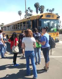 bus tours take high school students to colleges and be their after touring santa barbara city college the l a harbor area high school students board the