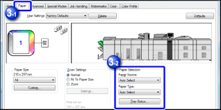 tab paper print settings and printing for paper source select a paper tray you want to load tab paper into for paper type select tab paper