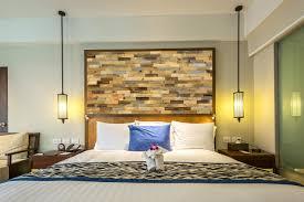 Holz Wandverkleidung Im Schlafzimmer Hintern Bett Gemütliche Und