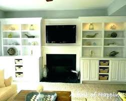 built in shelves around tv fireplace bookshelves luxury i