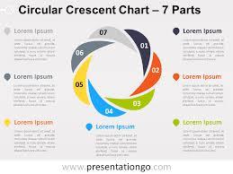 Arrow Ring Chart Powerpoint 7 Parts Circular Crescent Powerpoint Chart Presentationgo
