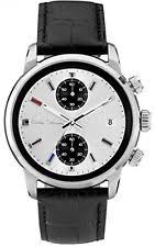 paul smith watch paul smith men quartz watch white dial chronograph display black leather p10032