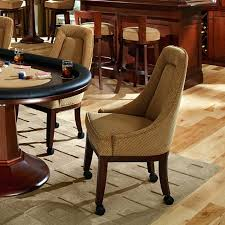 dining chairs on wheels. Dining Chairs: Restaurant Chairs Casters Poker W Swivel Base Custom Leather Lindgren Collection On Wheels