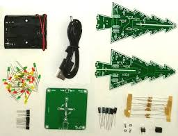 instructions bull d led christmas tree bull io each of the 10k resistors and 47uf capacitors form an rc oscillator that periodically pushes the associated transistor on the three sets of rc oscillators