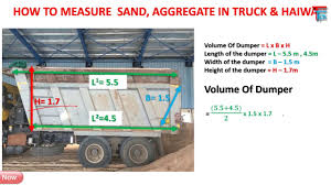 How To Measure Sand Aggregate Truck Vehicle At Site