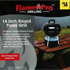 flame pro table grill 14in