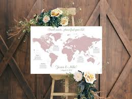 World Map Wedding Seating Chart 5 Ideas To Complete Your Adventure Themed Wedding Junebug