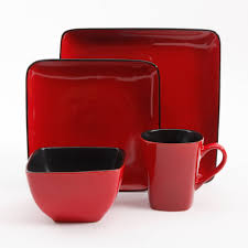 red dinner set ikea. better homes and gardens 32-piece square dinnerware set, red - walmart.com dinner set ikea