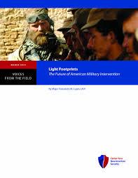 Light Footprint Strategy Light Footprints The Future Of American Military