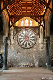 king arthur s round table on temple wall in winchester england u