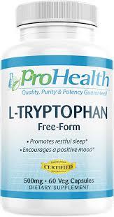 <b>L</b>-<b>Tryptophan</b> (<b>500 mg</b>, <b>60</b> Vcaps) by ProHealth | ProHealth.com