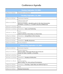 Interesting Template Word Sample For Conference Agenda Featuring