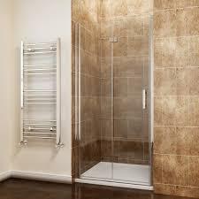 elegant 760mm frameless bifold 6mm hinged shower enclosure set