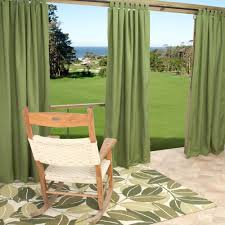 com outdoor curtains cur108cls 54 in x 108 in sunbrella outdoor curtain with tabs cilantro garden outdoor