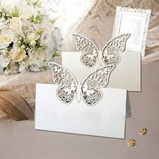 48 pack laser cut erfly vine wedding table number name place card wedding party decoration favour