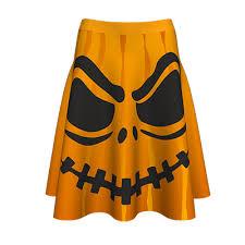 <b>Halloween</b> Spooky <b>Pumpkin Digital Print</b> Skirt - ALL CIO INVEST