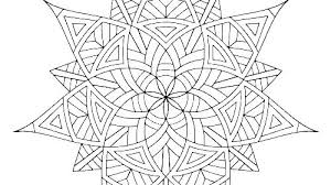 Geometric Coloring Pages Free Ring Sacred Geometry Book Printable