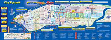 nyc bus tour in tourist map of  world maps