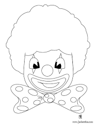 Coloriages Coloriage D Une T Te De Clown Fr Hellokids Com