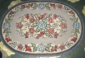 folk art rug details about antique country primitive wool hooked rug folk art hook floor carpet