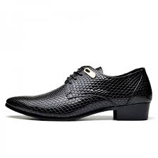 men shoes fashion snake skin designer leather shoes mens business dress classic shoes pointed toe formal shoes