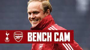 BENCH CAM   Tottenham vs Arsenal (0-4 ...