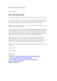 Personal Assistant Cover Letter Resume And Cover Letter Resume