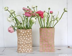 Flower Vase With Paper Diy Paper Bag Flower Vase Popsugar Smart Living